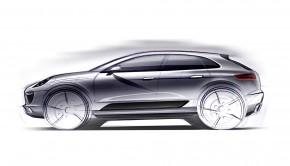 Porsche Macan schets